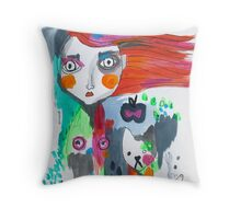 Mary had a little cat Throw Pillow