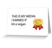 im a vegan Greeting Card