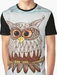 Earth Day Owl Graphic T-Shirt