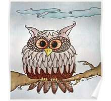 Earth Day Owl Poster