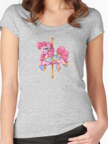 Carousel Pinkie Pie Women's Fitted Scoop T-Shirt