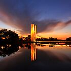 As the Sun Sets Aspen Island Canberra Australia  by Kym Bradley