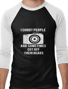 I Shoot People Funny Photographer Photography Men's Baseball ¾ T-Shirt