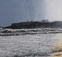 Beach Sunrise by Wayne  Edwards