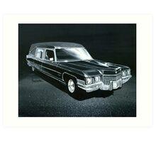1971 Cadillac Hearse Art Print