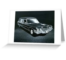 1971 Cadillac Hearse Greeting Card