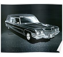 1971 Cadillac Hearse Poster
