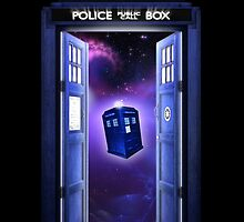 Tardis In Space by littlebeecase