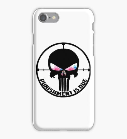 Punishment Is Due Smoke iPhone Case/Skin