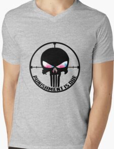 Punishment Is Due Smoke Mens V-Neck T-Shirt
