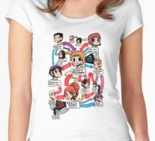 Scott Pilgrim relationship map Women's Fitted Scoop T-Shirt