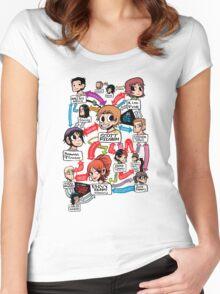 Scott Pilgrim relationship map Women's Fitted Scoop T-Shirt