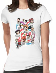 Scott Pilgrim relationship map Womens Fitted T-Shirt