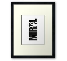 Mirin. (version 1 black) Framed Print