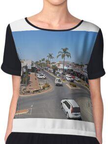 Marshall Street, Goondiwindi, Queensland, Australia Chiffon Top