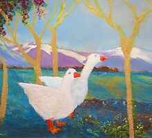 Country Geese by Adele Gregory