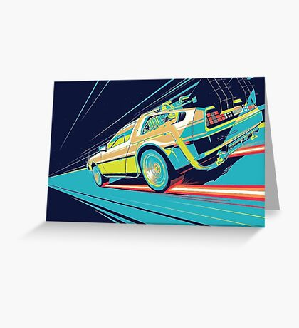 DeLorean- Back to the Future Greeting Card