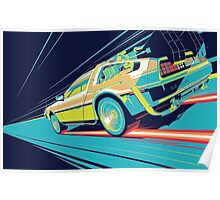 DeLorean- Back to the Future Poster