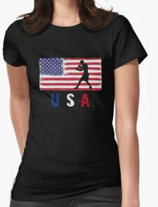 USA Boxing 2016 competition pro amateur boxers funny t-shirt Womens Fitted T-Shirt