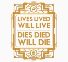 Lives, Lived, Will Live One Piece - Short Sleeve