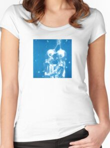 Fly Me To The Moon Blue Love Women's Fitted Scoop T-Shirt