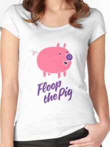 Floop the Pig Women's Fitted Scoop T-Shirt
