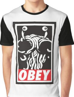 Obey Flying Spaghetti Monster Graphic T-Shirt