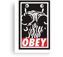Obey Flying Spaghetti Monster Canvas Print