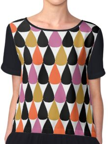 Drops pattern Chiffon Top