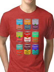 Andy Warhol Campbell's soup cans pop art Tri-blend T-Shirt