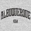 Albuquerque 505 (Black Print) by smashtransit