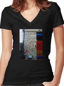 Berlin Wall - Magic & Mystery Women's Fitted V-Neck T-Shirt