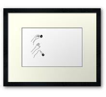 Mic Drop Framed Print