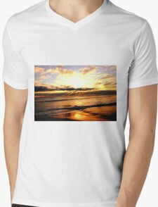 Beach Mens V-Neck T-Shirt