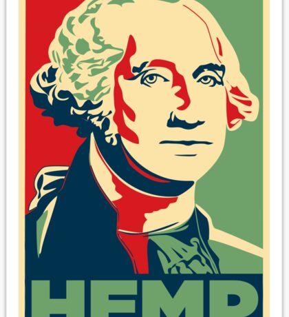 Hemp George Washington Sticker