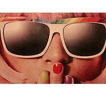 Retro Sunglasses Girl Photographic Print