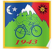 Hofmann's Bike Ride T-shirt Print Poster
