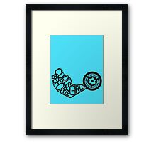 Curls Before Girls (Black) Framed Print