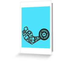 Curls Before Girls (Black) Greeting Card