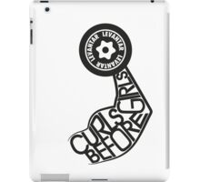 Curls Before Girls (Black) iPad Case/Skin