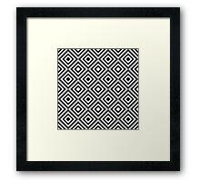 Op art pattern Framed Print
