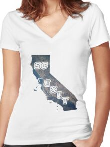 SC Exit Women's Fitted V-Neck T-Shirt