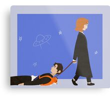 Dana Scully and Fox Mulder Metal Print