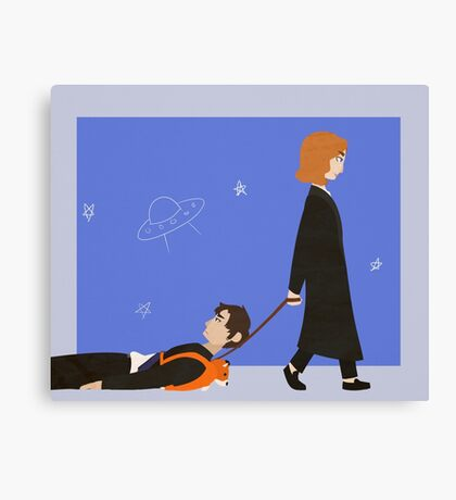 Dana Scully and Fox Mulder Canvas Print