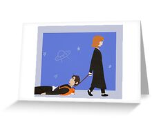 Dana Scully and Fox Mulder Greeting Card
