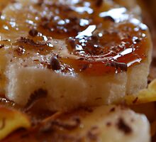 Pancake Dessert With Bananas, Caramel And Whipped Cream by G-Design