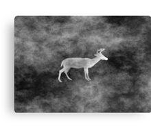 Deer grunge style Canvas Print