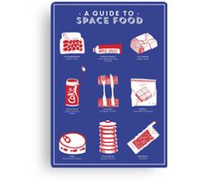 A Guide to Space Food Canvas Print