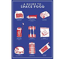 A Guide to Space Food Photographic Print