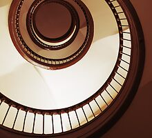 Brown Spiral Staircase by JBlaminsky